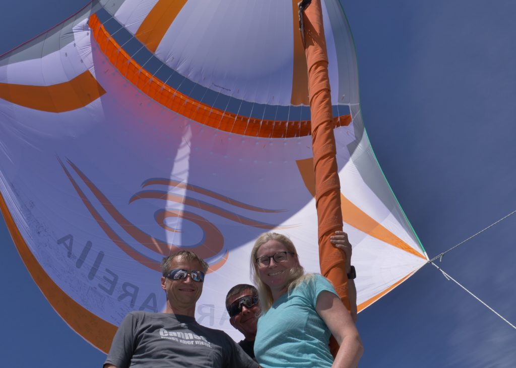 Yes, we are flying our parasailor
