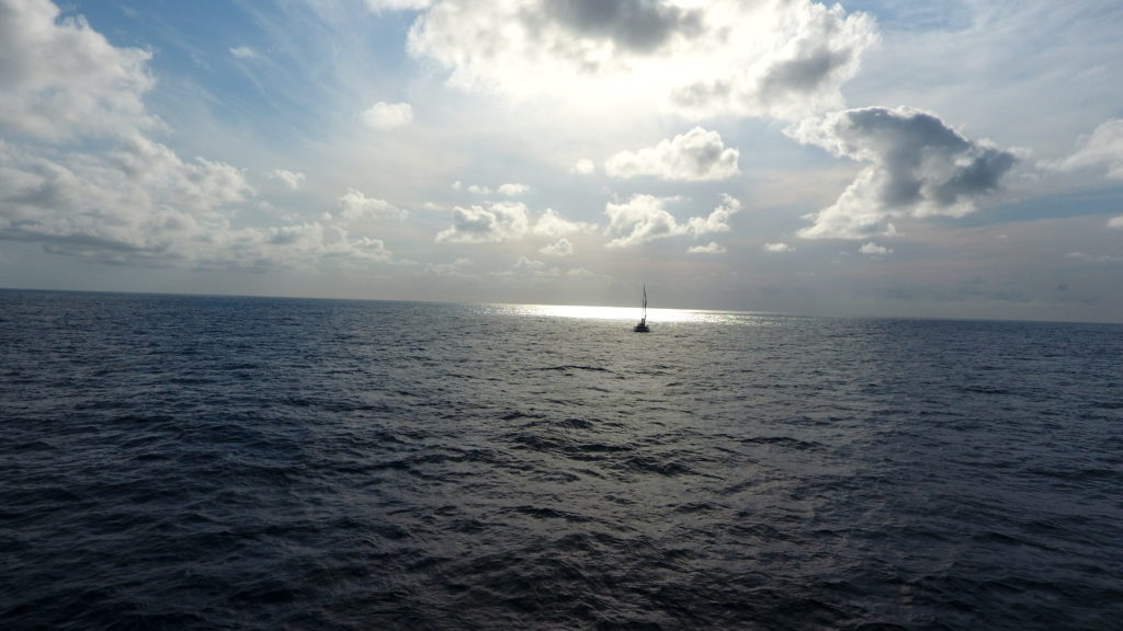 Parasailor in the middle of the Atlantic III