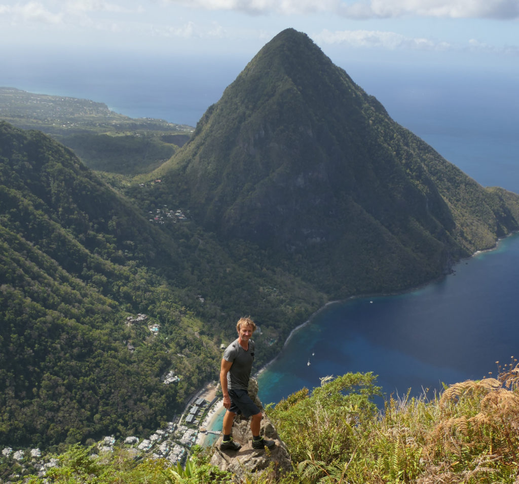 At the top of Petit Piton