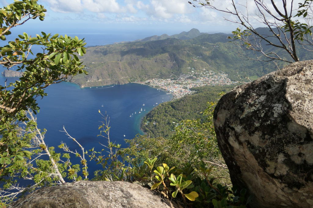 Looking down at Soufriere