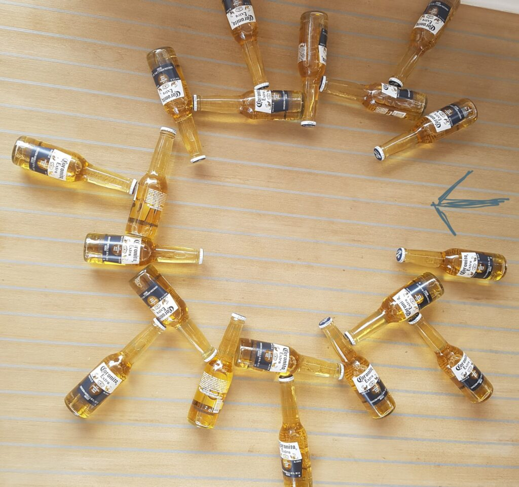 Using our corona bottles to model the achilles heel of the virus