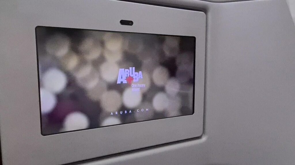 No inflight entertainment. Just one commercial: Travel to ARUBA for holidays