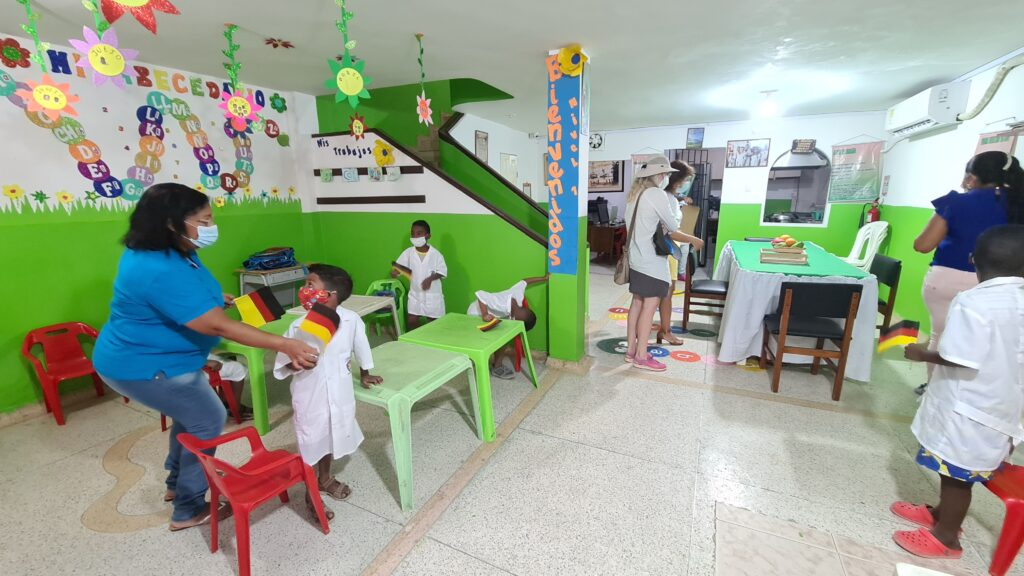 Classroom and lunchroom